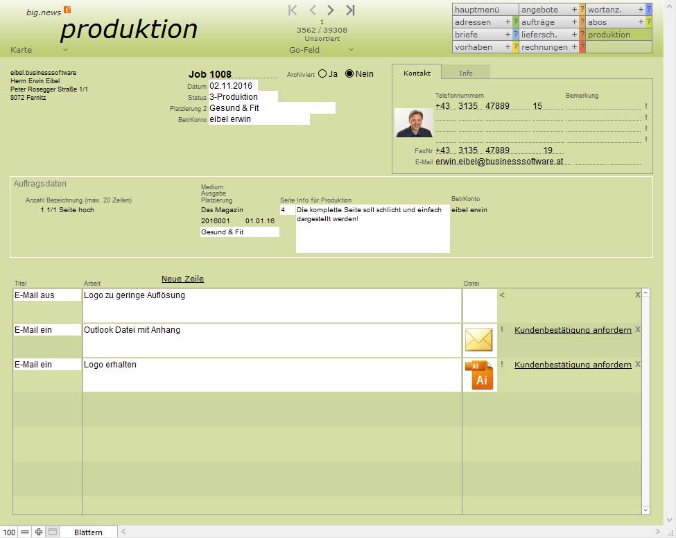 Screenshot für produktion big.news