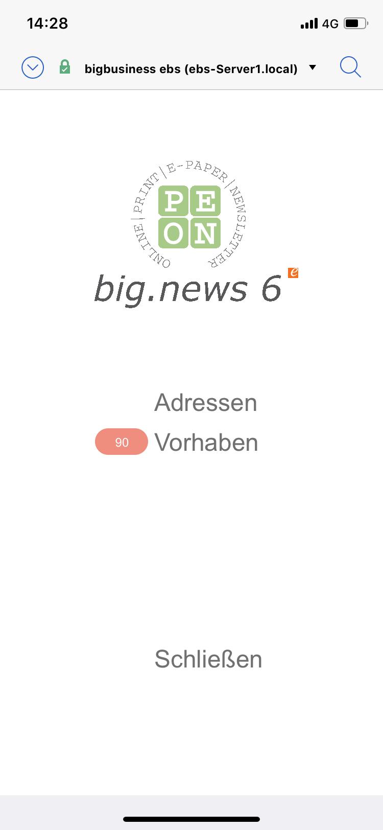big.news 6 mobil hauptmenü